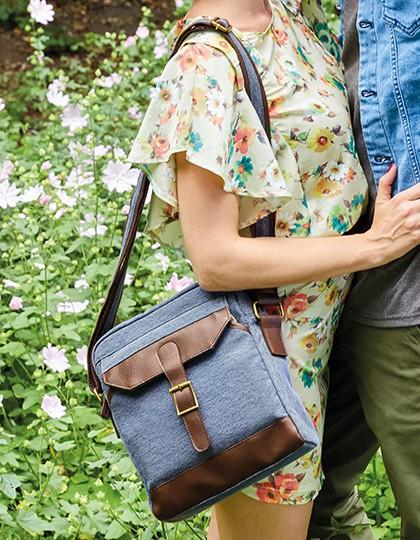 Small Messenger Bag - Oxford Street - Freizeittaschen - Freizeit-Umhängetaschen - Bags2GO Blue Melange