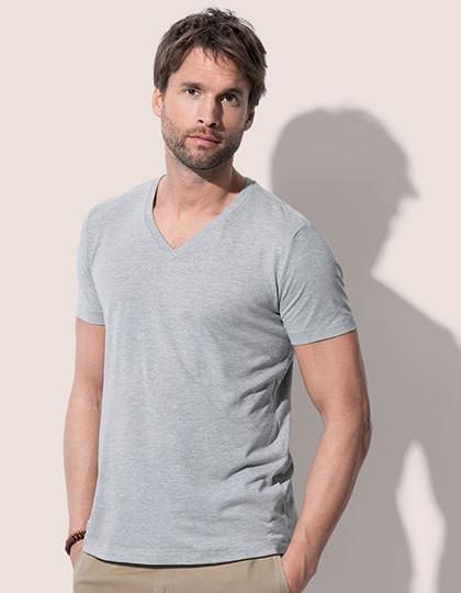 Luke V-Neck - Basic T-Shirts - V-Neck - Stedman® Aqua Heather