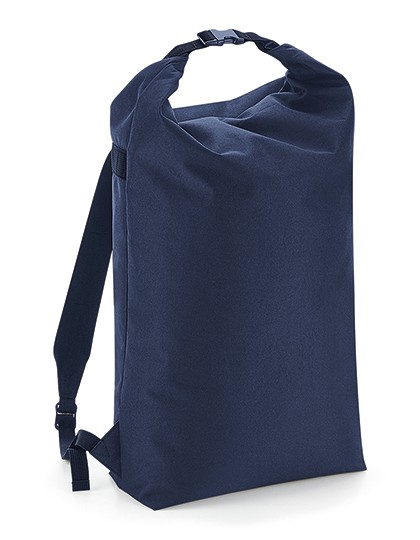 Icon Roll-Top Backpack - BagBase Black