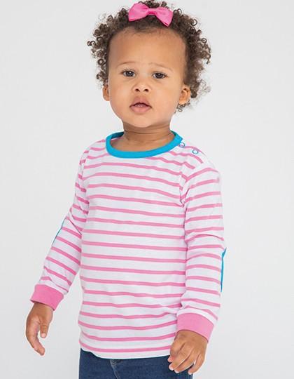 Striped Long Sleeved T-Shirt - Kinderbekleidung - Baby Shirts & Hosen - Larkwood Navy - White