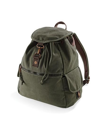 Vintage Canvas Backpack - Rucksäcke - Freizeit-Rucksäcke - Quadra Sahara