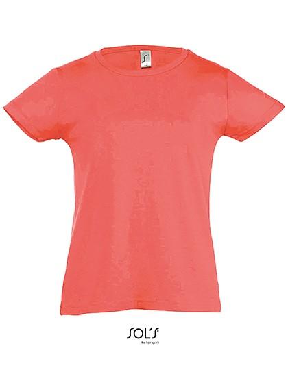 Kids` T-Shirt Girlie Cherry - Kinderbekleidung - Kinder T-Shirts - SOL´S Apple Green