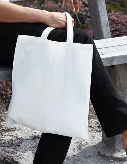 Shopping Bag Short Handles - Baumwoll- & PP-Taschen - Fairtrade Baumwolltaschen - Neutral Black