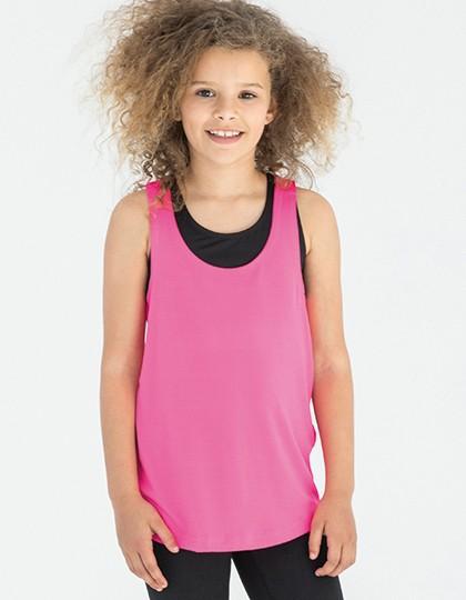 Kids` Fashion Workout Vest - Kinderbekleidung - Kinder T-Shirts Ärmellos & Trägershirts - SF Minni Black