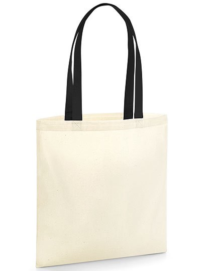 EarthAware® Organic Bag for Life - Contrast Handles - Westford Mill Black - Natural