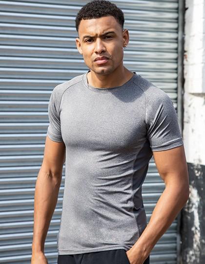 Men`s Slim Fit T-Shirt - Sports & Activity - Basic Sport Shirts - Tombo Black - Black