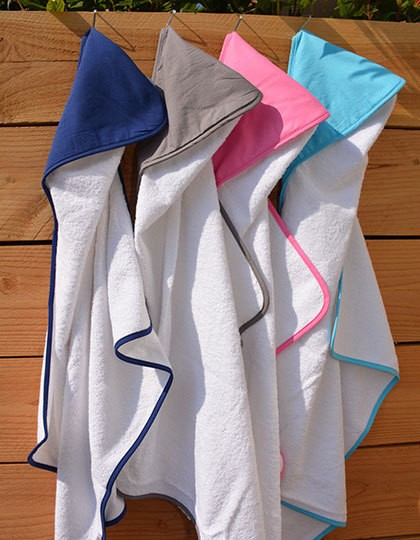 PRINT-Me® Baby Hooded Towel - A&R White - White - White